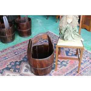 イギリスアンティーク レトロ 樽バケツp54-3 英国製 1910年頃 送料無料|british-life