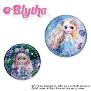 手鏡 コンパクトミラー Blythe ブライス 缶ミラー 鏡 キャラ 通勤 ハンドミラー プレゼント メイク 丸|broderie01