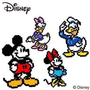 ワッペン ミッキー ピクセル ディズニー アイロン シール かわいい 刺繍 キャラクター グッズ プレゼント 服|broderie01