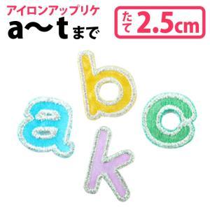 カラフルアルファベット アイロン ワッペン 小文字a〜t broderie01