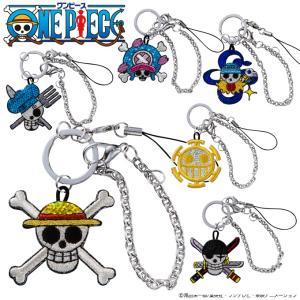 スパンコールチャーム ONEPIECE ワンピース 海賊旗 プレゼント アクセサリー パーツ キャラ ストラップ 刺繍 broderie01