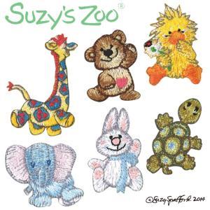 ワッペン Suzy's ZOO アイロン シール かわいい 刺繍 キャラクター マーク プレゼント 服|broderie01