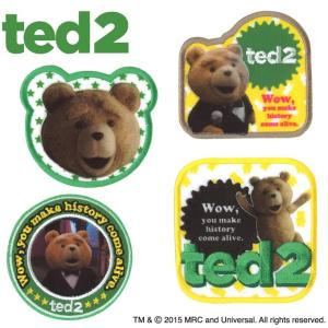 ワッペン Ted2 アイロン シール かわいい 刺繍 キャラクター マーク プレゼント 服|broderie01