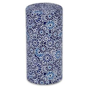 ブルックス おこのみ茶筒 藍染(小花柄)|brooks