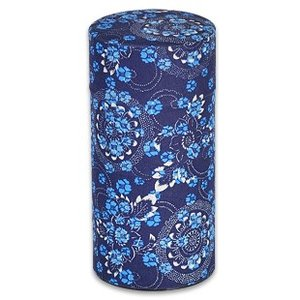 ブルックス おこのみ茶筒 藍染(花柄)