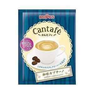 コーヒー 珈琲 カプチーノ 100袋  かんたフェ 粉末飲料 ブルックス BROOK'S BROOKS|brooks