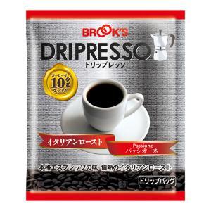コーヒー ドリップバッグコーヒー ドリップコーヒー 珈琲 10g ドリップレッソ イタリアンロースト パッシオーネ 20袋 エスプレッソ ブルックス BROOK'S BROOKS|brooks
