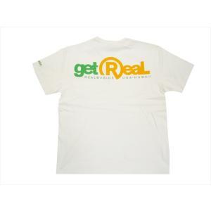 REAL B VOICE/リアルビーボイス サーフ半袖Tシャツ10101-10302 GET REAL プリント Tシャツ ホワイト|bros-clothing