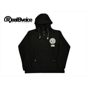 リアルビーボイス/REAL B VOICE パーカー 10121-10435 スーパーヘビーウェイト裏起毛 スウェット エンブレム プルオーバーパーカー ブラック|bros-clothing