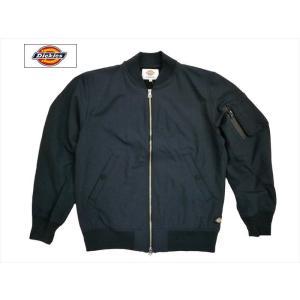 Dickies/ディッキーズ ジャケット リップボンディング ストレッチMA-1ジャケット 171M10WD08 ネイビー|bros-clothing