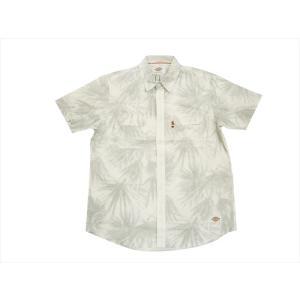 Dickies/ディッキーズ 半袖シャツ 172M20WD06 ユッカ柄 綿麻 半袖ワークシャツ ホワイト|bros-clothing