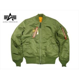 ALPHA INDUSTRIES/アルファ インダストリーズ 20004  MA-1 タイトフィット フライトジャケット Vグリーン ジャパンスペック|bros-clothing