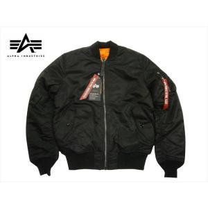 ALPHA INDUSTRIES/アルファ インダストリーズ 20004  MA-1 タイトフィット フライトジャケット ブラック ジャパンスペック|bros-clothing