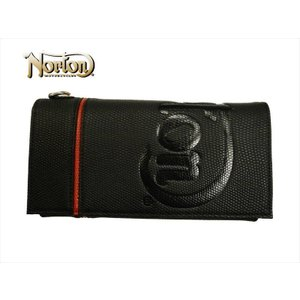 Norton ノートン 財布 201N8200 リザード柄 PUレザー ロングウォレット (長財布) ブラック|bros-clothing