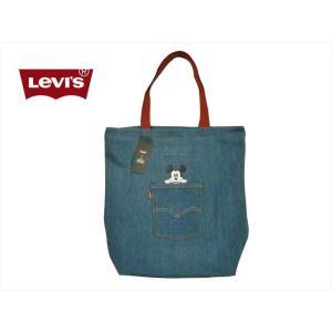 0a057eec6cf3 Levi's/リーバイス×ディズニーコレクション バッグ 38004-0118 「ミッキーマウス」デニム トートバッグ evid