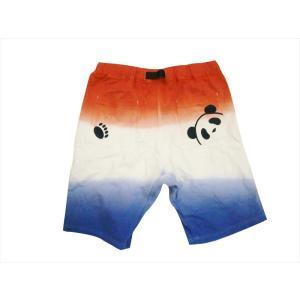 錦  PANDIESTA/パンディエスタ ショートパンツ 529218 熊猫印 段染め スウェット ショーツ トリコロール|bros-clothing