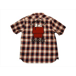 PEANUTS×LOWBLOW KNUCKLE/ローブローナックル 半袖シャツ 529416 刺繍