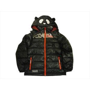 錦 PANDIESTA/パンディエスタ ダウンジャケット 539242 刺繍 熊猫謹製 なりきりパンダ フード取り外し可 ダウンジャケット ブラック bros-clothing