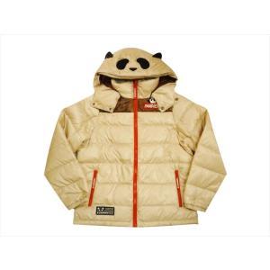 錦 PANDIESTA/パンディエスタ ダウンジャケット 539242 刺繍 熊猫謹製 なりきりパンダ フード取り外し可 ダウンジャケット ベージュ bros-clothing
