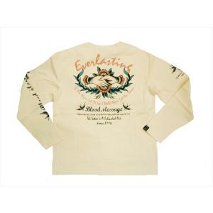 BLOOD MESSAGE ブラッドメッセージ/エフ商会 長袖Tシャツ BLLT-900 『Everlasting』タトゥー・バイカー・ロングTシャツ オフホワイト|bros-clothing