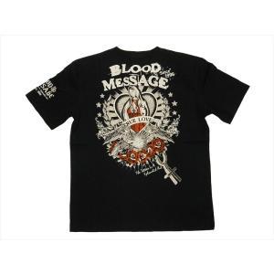 ブラッドメッセージ BLOOD MESSAGE/エフ商会 Tシャツ BLST-930 『True Love』アメリカンタトゥー半袖Tシャツ ブラック|bros-clothing