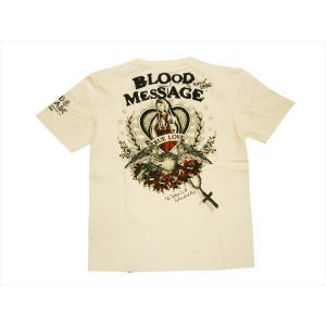 ブラッドメッセージ BLOOD MESSAGE/エフ商会 Tシャツ BLST-930 『True Love』アメリカンタトゥー半袖Tシャツ ホワイト|bros-clothing