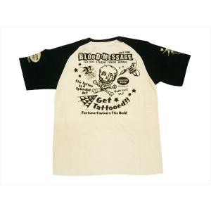 ブラッドメッセージ BLOOD MESSAGE/エフ商会 Tシャツ BLST-980 『Get Tattooed』アメリカンタトゥー半袖Tシャツ ホワイト|bros-clothing