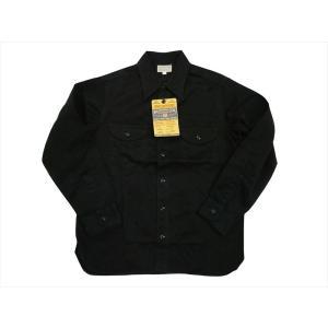 BUZZ RICKSON'S/バズリクソンズ 長袖シャツ BR26081 ヘリンボーン・ミリタリー・長袖ワークシャツ ブラック|bros-clothing