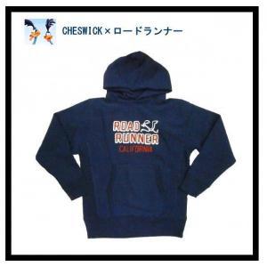 CHESWICK チェスウィック×ロードランナー パーカ CH66787 チェーン刺繍『RR CALIFORNIA 』プルオーバー スウェットパーカー ネイビー|bros-clothing