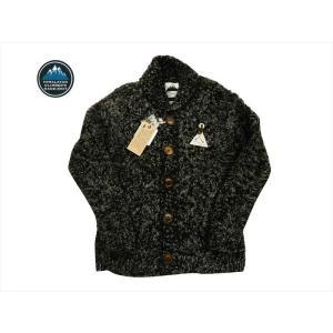 HIMALAYAN CLIMBER'S HAND-KNIT/ヒマヤラン・クライマーズ・ハンドニット カウチン HCK-18F1 手編みショール・カーディガン ブラック|bros-clothing