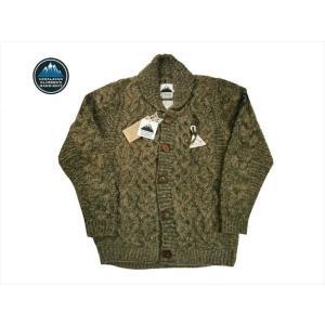 HIMALAYAN CLIMBER'S HAND-KNIT/ヒマヤラン・クライマーズ・ハンドニット カウチン HCK-18F1 手編みショール・カーディガン  グレー|bros-clothing