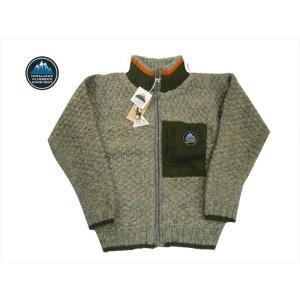 HIMALAYAN CLIMBER'S HAND-KNIT/ヒマラヤン・クライマーズ・ハンドニッ トHCK-18F4 裏フリース 手編みニット・ジャケット/カウチン グレー|bros-clothing
