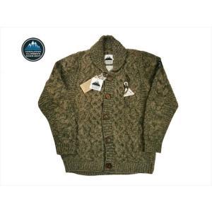 HIMALAYAN CLIMBER'S HAND-KNIT/ヒマラヤン・クライマーズ・ハンドニット カウチン HCK-19F1 手編みショール・カーディガン  グレー|bros-clothing