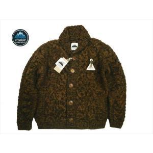 HIMALAYAN CLIMBER'S HAND-KNIT/ヒマラヤン・クライマーズ・ハンドニット カウチン HCK-19F1 手編みショール・カーディガン ブラウン|bros-clothing