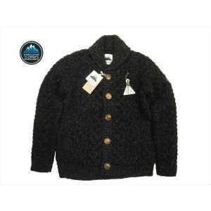 HIMALAYAN CLIMBER'S HAND-KNIT/ヒマラヤン・クライマーズ・ハンドニット カウチン HCK-19F1 手編みショール・カーディガン ブラック|bros-clothing