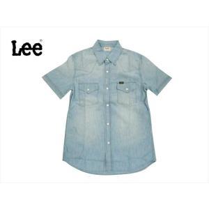 Lee リー 半袖シャツ LT0634-256 シャンブレー 半袖ウエスタンシャツ ライトユーズド bros-clothing