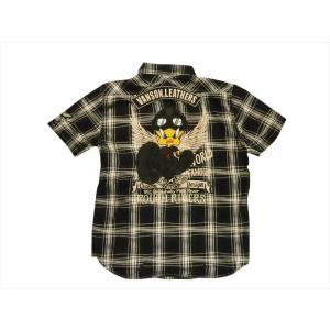 Vanson/バンソン×ルーニー・テューンズ・コラボ LTV-917 半袖シャツ 刺繍