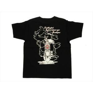 NAITIVE GANG FAMILY×ゴーストバスターズ Tシャツ NGF14-591 プリント「マシュマロマン」半袖Tシャツ ブラック|bros-clothing