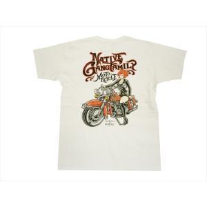 キューティーハニー×NGF・コラボ 半袖Tシャツ NGF24-652 インクジェット・プリント「キューティーハニー・バイク」 半袖Tシャツ ホワイト|bros-clothing