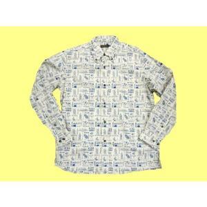 SUN SURF/サンサーフ SS26377 オックスフォード・ボタンダウン長袖シャツ 『ALOHA HAWAII/アロハ ハワイ』 ホワイト|bros-clothing