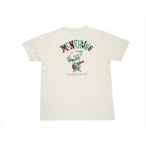 SUN SURF/サンサーフ Masked Marvel 半袖Tシャツ SS77687 「ウクレレ メネフネ」ハワイアンTシャツ オフホワイト|bros-clothing