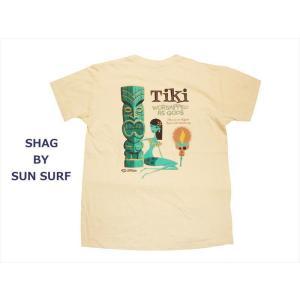 SHAG BY SUN SURF/シャグ バイ サンサーフ 半袖Tシャツ SS78032 『TIKI』ハワイアンTシャツ ピンク|bros-clothing