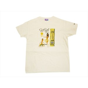 SHAG BY SUN SURF/シャグ バイ サンサーフ 半袖Tシャツ SS78034 『HURA』 ハワイアンTシャツ オフホワイト|bros-clothing