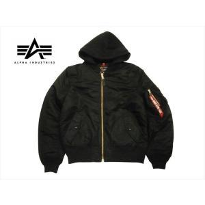ALPHA INDUSTRIES/アルファ TA0130 MA-1 NATUS フライトジャケット フード取り外し可 ブラック|bros-clothing