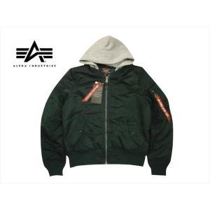 ALPHA INDUSTRIES/アルファ TA0130 MA-1 NATUS フライトジャケット フード取り外し可 P.グリーン|bros-clothing