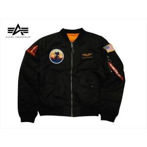 PEANUTS×ALPHA/アルファ TA0191-001 L2-B スリムフィット フライトジャケット NASA設立60周年