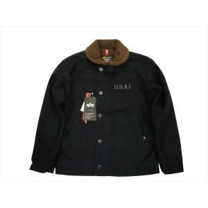 アルファ インダストリーズ/ALPHA INDUSTRIES TA1336 N-1デッキジャケット ミリタリージャケット Dネイビー|bros-clothing