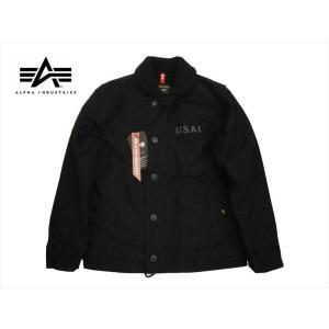 アルファ インダストリーズ/ALPHA INDUSTRIES TA1336 N-1デッキジャケット ミリタリージャケット ブラック|bros-clothing