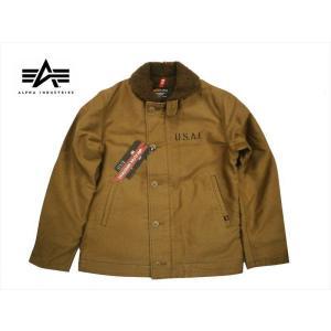 アルファ インダストリーズ/ALPHA INDUSTRIES TA1336 N-1デッキジャケット ミリタリージャケット カーキ|bros-clothing