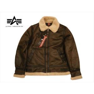 アルファ インダストリーズ/ALPHA INDUSTRIES フライトジャケット TA1398 B-3 フェイクムートン ジャケット ブラウン|bros-clothing